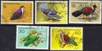Papua New Guinea 1977 Fauna Conservation Birds Pigeons Set Fine Used