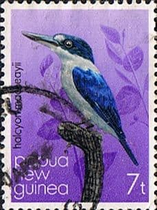Postage Stamps Papua New Guinea 1985 Kingfishers SG 402 Fine Used Scott 530
