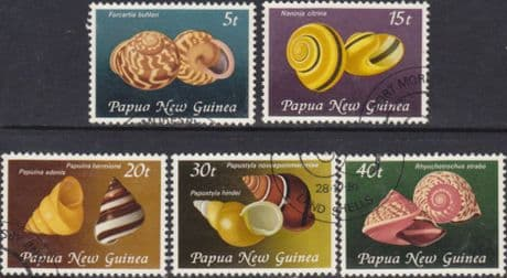 Stamps Papua New Guinea 1981 Land Snail Shells Set Fine Used