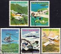 Papua New Guinea 1981 Mission Aviation Set Fine Used