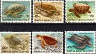 Papua New Guinea 1984 Turtles Set Fine Used