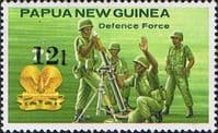 Papua New Guinea 1985 Defence Force SG 495 Surcharged Fine Mint