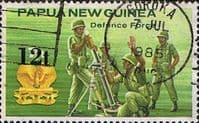 Papua New Guinea 1985 Defence Force SG 495 Surcharged Fine Used