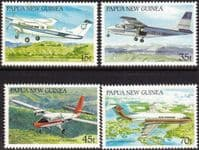 Papua New Guinea 1987 Aircraft Set Fine Mint