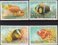 Papua New Guinea 1987 Fish Anemonefish Set Fine Mint