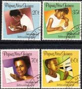 Papua New Guinea 1989 International Letter Writing Week Set Fine Used