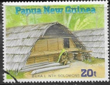 Stamps Papua New Guinea 1989 Traditional Dwellings Set Fine Mint