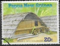 Papua New Guinea 1989 Traditional Dwellings SG 593 Fine Used
