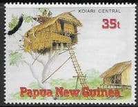 Papua New Guinea 1989 Traditional Dwellings SG 594 Fine Used