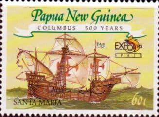 Stamps Papua New Guinea 1992 Columbus and Expo 92 World Fair Set Fine Mint
