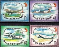Papua New Guinea 1993 Aircraft Air Niugini Set Fine Mint
