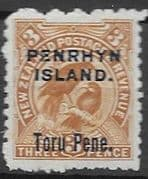 Penrhyn Island 1903 New Zealand Overprint SG 14 Good Mint