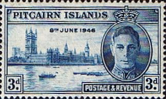 Postage Stamp Stamps Pitcairn Islands 1946 SG 10 Victory Peace Fine Mint Scott