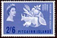 Pitcairn Islands 1963 Freedom From Hunger Fine Mint