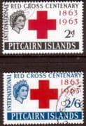 Pitcairn Islands 1963 Red Cross Centenary Set Fine Used