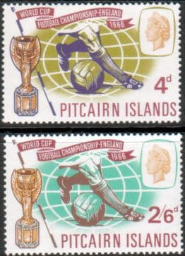 Postage Stamps Pitcairn Islands 1966 Football World Cup Set Fine Mint