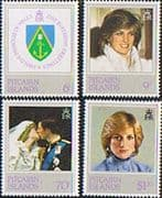 Pitcairn Islands 1982 Diana 21st Birthday Set Fine Mint