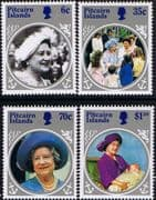 Pitcairn Islands 1985 Queen Mother Life and Times Set Fine Mint