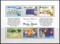Pitcairn Islands 1991 Bicentenary of Pitcairn Island Settlement 4th Issue Miniature Sheet Fine Mint