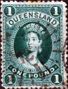 Queensland 1882 Queen Victoria SG 156 Good Used