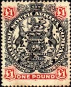 Rhodesia 1897 British South Africa Company SG 73 Fine Perforated Used