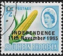 Rhodesia 1966 Independence Overprint SG 359 Fine Used