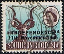 Rhodesia 1966 Independence Overprint SG 362 Fine Used