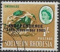 Rhodesia 1966 Independence Overprint SG 366 Fine Used