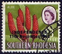 Rhodesia 1966 Independence Overprint SG 367 Fine Used