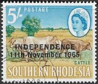 Rhodesia 1966 Independence Overprint SG 370 Fine Used