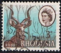 Stamps of Rhodesia 1966 Whitley Fine Used SG 376 Scott 225