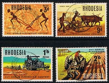 Rhodesia 1968 World Ploughing Contest Set Fine Used