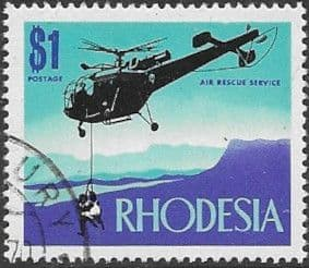 Stamps of Rhodesia 1970 Air Rescue SG 451 Fine Mint Scott 292