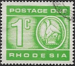 Rhodesia 1970 Postage Due SG D18 Fine Used