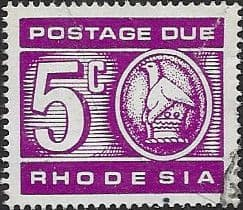 Rhodesia 1970 Postage Due SG D20 Fine Used