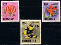 Rhodesia 1976 Surcharged Overprint Set Fine Mint
