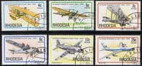 Rhodesia 1978 Powered Flight Planes Set Fine Used