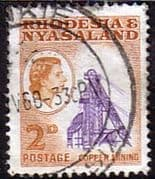 Rhodesia and Nyasaland 1959 SG 20 Copper Mining Fine Used