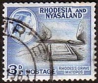 Rhodesia and Nyasaland 1959 SG 22 Rhodes's Grave Fine Used