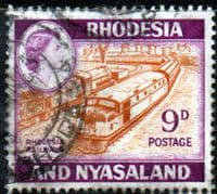 Rhodesia and Nyasaland 1959 SG 24a Rhodesian Railway Trains Fine Used