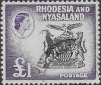 Rhodesia and Nyasaland 1959 SG 31 Coat of Arms Fine Used