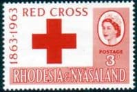 Rhodesia and Nyasaland 1963 Red Cross Centenary Fine Mint