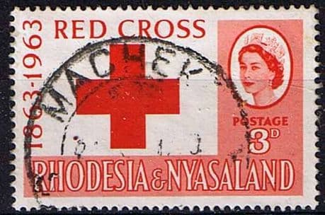 Rhodesia and Nyasaland 1963 Red Cross Centenary Fine Used