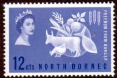 Stamps of North Borneo 1963 Freedom From Hunger Fine Mint