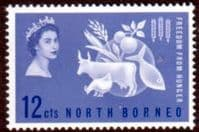 North Borneo 1963 Freedom From Hunger Fine Mint