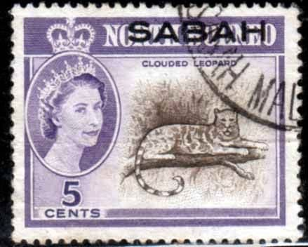 Postage Stamps Sabah 1964 SG410 Animal Clouded Leopard Fine Used Scott 3