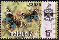 Sabah 1971 SG 437 Butterflies Precis Brithya Wallacei Fine Used