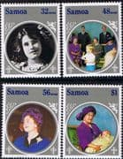 Samoa 1985 Queen Mother Life and Times Set Fine Mint