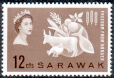Postage Stamps of Sarawak 1963 Freedom From Hunger Fine Mint