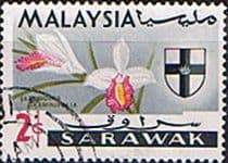 Sarawak 1965 Flowers Orchids SG 213 Fine Used